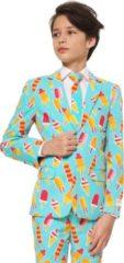 Blauwe Trademark OppoSuits Officiële Jongens Pakken van Hoge Kwaliteit - Cool Cones - Kostuum bevat Pantalon, Jasje en Stropdas! Maat 134/140