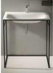 Bette Lux shape wastafel 60x49.5cm inclusief mint frame zonder kraangat wit a170000