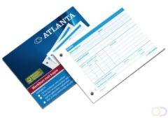 Witte Atlanta Werkbon urenregistratie A6 formaat 50 x 2 vellen