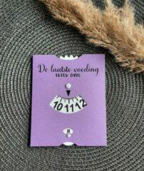 Precious beauty and more - Voedingskaart paars - Babyvoeding accessoires
