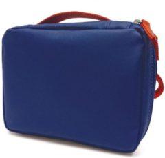 Blauwe Ekobo GO Recycled PET Lunchtas - 20x15x7 cm - Royal Blue/Persimmon