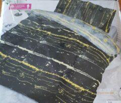 Antraciet-grijze Fresh & cold Fresh&Co Scally 1 Persoons dekbedovertrek 140x220