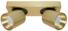 Goudkleurige Artdelight Spot Laguna 2 lichts L 22 cm B 8,5 cm mat goud
