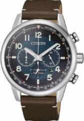 Citizen Eco-Drive Chronograaf CA4420-13L - Leer/Staal - 10BAR - Herenhorloge