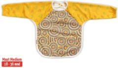 Rode KliederZ.nl Slab met mouwen | KliederZ lange mouwslab 18 - 36 mnd | meisjes peuter slab Aboriginal art LB03a
