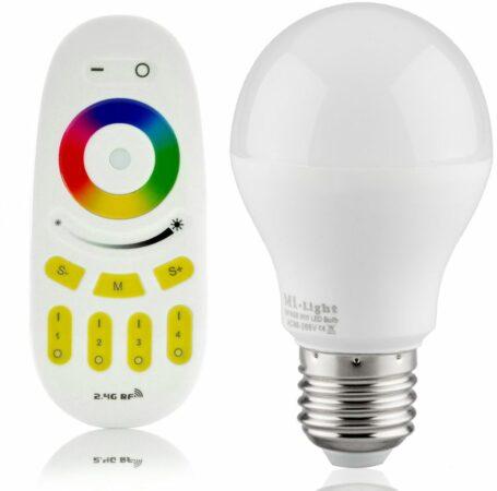 Afbeelding van Mi Light RGBW 6W LED Lamp met Afstandsbediening