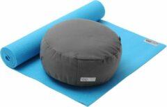 Yoga-Set Starter Edition - Meditatie (Yoga mat + meditatiekussen) turquoise Fitnessmat YOGISTAR