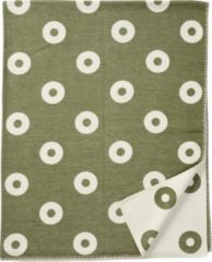 Rings organic cotton ledikantdeken groen- Klippan 90x140
