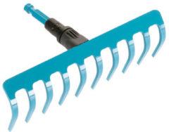 Blauwe GARDENA Combisystem - hark 10 tnd/25 cm - Exclusief steel