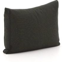 Zwarte Madison loungekussen luxe rug 60x40cm - Laagste prijsgarantie!