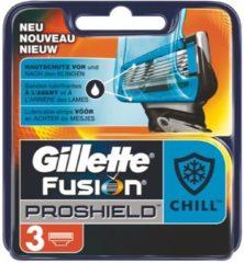 Gillette Fusion ProShield Scheermesjes - Chill 3 Stuks