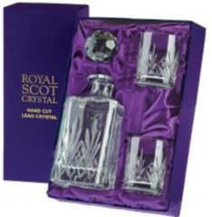 Transparante Royal Scot Crystal Highland Decanter Set