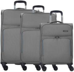 Travel Line 7904 4-Rollen Kofferset 3tlg. D&N grau