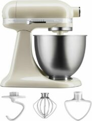 Creme witte KitchenAid Mini 5KSM3311X - Keukenmachine -Crème