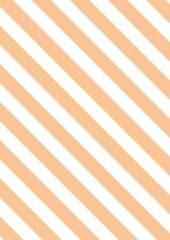 Oranje MTis Inpakpapier met Schuine Perzikkleurige Strepen- Breedte 70 cm - 200m lang - K60362/11-70cm-200mtr