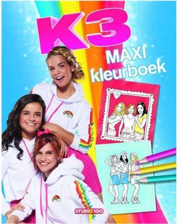 Afbeelding van Studio 100 maxi kleurboek K3 35 cm blauw