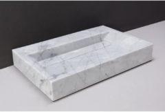 Wastafel Forzalaqua Bellezza Carrara Gepolijst 80,5x51,5x9 cm 1 Kraangat