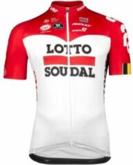 Rode Lotto Soudal Vermarc Trui Korte Mouwen SPL Aero Maat S