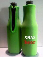 Koozie.eu 2 stuks bier fles koelhoud hoes kerstmis thema groen| kerst | kado idee