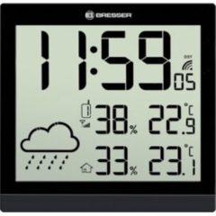 Bresser TemeoTrend JC zwart LCD weerstation-wandklok