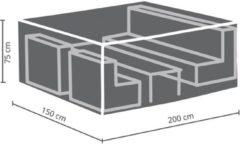 Antraciet-grijze Maxx Lounge set beschermhoes - 200 x 150 x 75 cm - rechthoekig - S