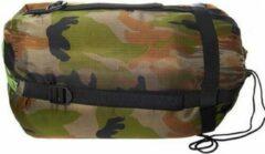Groene Fostex mummyslaapzak Tactical Sniper 230 cm - Camouflage Woodland
