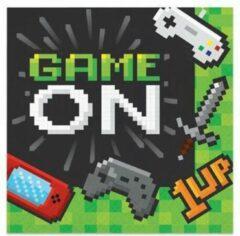 Witbaard Servetten Gaming Party 33cm Papier Groen 16 Stuks