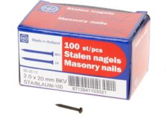 HJZ Stalen nagels blauw bolkop 2.0x20mm 100 stuks