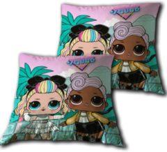 L.O.L. Surprise! kussen Squad junior 35 x 35 cm polyester groen/roze
