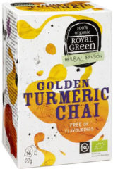 Royal Green Royal groen Golden turmeric chai 16 Stuks