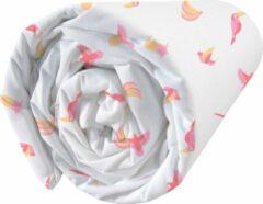 Witte Matt & Rose Hoeslaken Jungle - Eenpersoons - 90 x 190/200 cm - Katoen