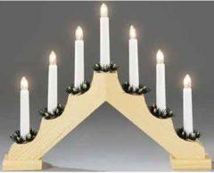 Witte Konstsmide 2262 - Kerstkandelaar - 7 lamps - grenen met kaarsdeco - 230V - voor binnen - warmwit