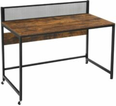 Maison Home Maison's Bureau - Bureautafel - Laptop tafel - Zwart/Bruin - Industrieel - 60x120x93