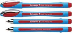 Balpen Schneider Slider Memo XB 1,4mm kogelbreedte rood
