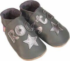 Antraciet-grijze Starchild Babyslofjes rock star grey metal Maat: 3XL (175 cm)