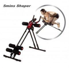 Zwarte 5 Minute Shaper - Buikspiertrainer - Fitnessapparaat voor thuis - Buikspieroefeningen