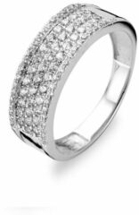 Velini jewels -R6978W-48 -Ring -925 Zilver gerodineerd -Cubic Zirkonia