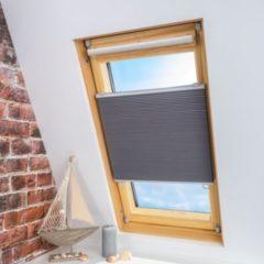 Liedeco Klemmfix Universal-Thermo-Plissee Dachfenster Dachfensterplissee Wabenplissee - grau