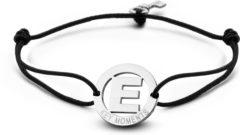 Zilveren Key Moments 8KM-A00005 - Armband met stalen letter E en sleutel - one-size - zilverkleurig