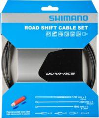 Zwarte Shimano versnellingskabels (inclusief binnenkabels met coating van polymeer) - Versnellingskabels