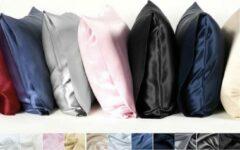 Antraciet-grijze Silkmood Zijden kussensloop, wit/naturel, 60x70cm, 100% natuurlijk