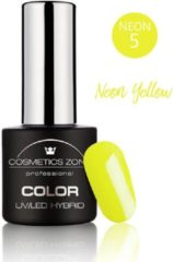 Gele Cosmetics Zone UV/LED Hybrid Gel Nagellak 7ml. Neon Yellow N5
