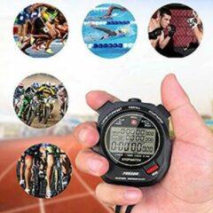 Zwarte Now4you Professionele timer stopwatch, digitale sport stopwatch met countdown timer, 100 ronden geheugen, 0,001 seconde timing