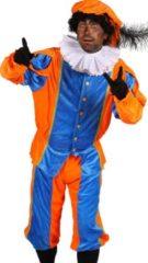 Jode-verhuur Pietenkostuum blauw oranje maat smal