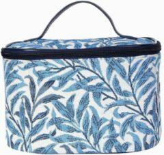Blauwe Signare Toilettas Willow Bough | William Morris | make-up tas | Gobelin | Cosmetica organiser
