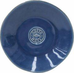 Costa Nova - servies - broodbord - Nova blauw - aardewerk - set van 6 - 16 cm rond