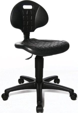 Afbeelding van Zwarte Topstar kruk Tec 20 zonder voetring met wieltjes zwart