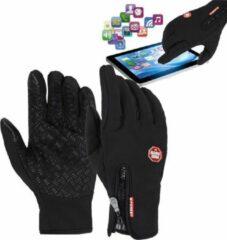 Zwarte Merkloos / Sans marque Fietshandschoenen Winter Met Touch Tip Gloves - Anti-Slip - Touchscreen Sport Handschoenen - Dames / Heren