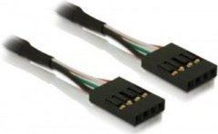 Zwarte DeLOCK Cable pinheader F/F 4-Pin Zwart kabeladapter/verloopstukje