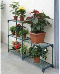 Roestvrijstalen Merkloos / Sans marque Plantenrek 142 x 30 x 98 cm